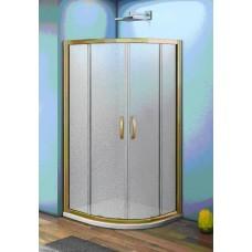 Душевое ограждение Good Door JAZZE R-100-G-BR стекло Grape бронзовый профиль 6 мм