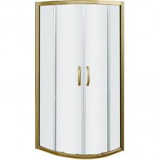 Душевое ограждение Good Door JAZZE R-100-C-BR стекло прозрачное бронзовый профиль 6 мм