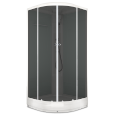 Душевая кабина DOMANI-Spa Delight 99 низкий поддон, светлые стенки, тонированное стекло