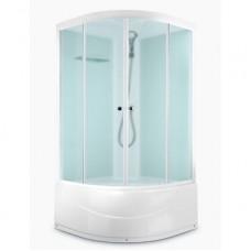 Душевая кабина DOMANI-Spa Delight 110 high, высокий поддон, светлые стенки, матовое стекло, размер 100*100*218см