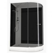 Душевая кабина DOMANI-Spa Delight 128 L, низкий поддон, черные стенки, тонированное стекло,размер 120*80*218см