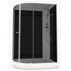 Душевая кабина DOMANI-Spa Delight 128 R, низкий поддон, черные стенки, тонированное стекло, размер 120*80*218см