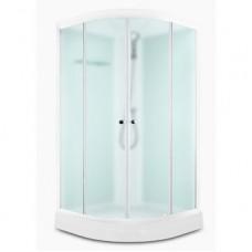 Душевая кабина DOMANI-Spa Delight 110, низкий поддон, светлые стенки, матовое стекло, размер 100*100*218см