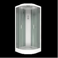 Душевой бокс BAS Adria Eco 90x90 см , низкий поддон, цвет белый,  размер 90x90x225 см