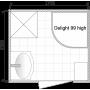 Душевая кабина DOMANI-Spa Delight 99 high , высокий поддон,светлые стенки, матовое стекло, профиль Graphite,гидромассаж ног, кнопочный блок управления,освещение, вертикальный гидромассаж, размер 90*90*218см