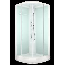 Душевая кабина DOMANI-Spa Delight 99 низкий поддон, светлые стенки, прозрачное стекло