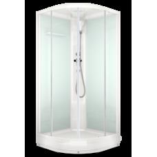 Душевая кабина DOMANI-Spa Delight 99, низкий поддон, светлые стенки, матовое стекло, размер 90*90*218см