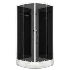 Душевая кабина DOMANI-Spa Eсo Delight 99 без крыши, черные стенки, тонированные стекла