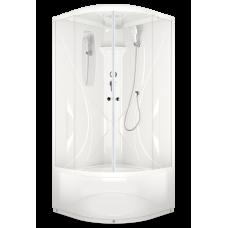 Душевая кабина DOMANI-Spa Elegance high высокий поддон, прозрачное стекло, акриловая задняя панель, без электрики