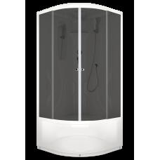 Душевая кабина DOMANI-Spa Elegance high высокий поддон, тонированное стекло, акриловая задняя панель, без электрики