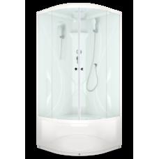 Душевая кабина DOMANI-Spa Elegance high высокий поддон, матовое стекло, акриловая задняя панель, без электрики