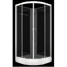 Душевая кабина DOMANI-Spa Eсo Delight 88 без крыши, черные стенки, тонированные стекла