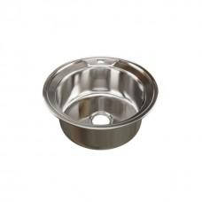 Мойка круглая d 49 (0,6) MIXLINE (глубина чаши 17см) с сифоном