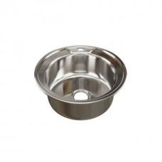 Мойка круглая d 49 (0,8) MIXLINE (глубина чаши 18см) с сифоном