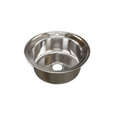Мойка круглая d 51 (0,6) MIXLINE (глубина чаши 17см) с сифоном