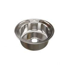 Мойка круглая d 51 (0,8) MIXLINE (глуб чаши 18см) с сифоном