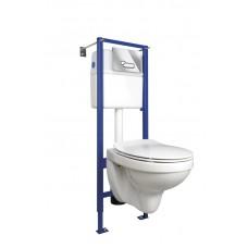 Комплект DELFI (сиденье slim DP lift+инсталляция VECTOR с кнопкой ACTIS хром глянцевый)