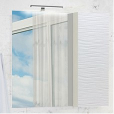 Зеркало-шкаф Генуя-75 белый Comforty