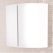 Шкаф-зеркало Лаура-60-2 белый Comforty