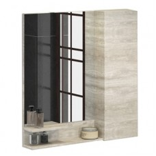 Зеркало-шкаф Верона-90 дуб белый Comforty
