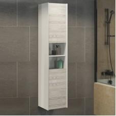 Шкаф-колонна Женева-35 дуб белый Comforty