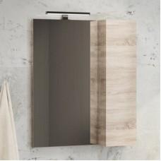 Зеркало-шкаф Тромсе-60 дуб сонома Comforty