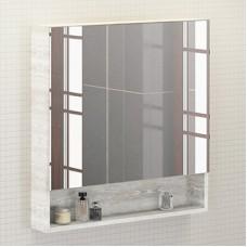 Зеркало-шкаф Никосия-80 дуб белый Comforty