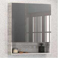 Шкаф-зеркало Никосия 60 дуб белый Comforty