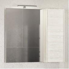 Шкаф-зеркало Бремен-90 дуб белый Comforty