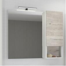 Зеркало-шкаф Ганновер-90 дуб дымчатый светлый Comforty