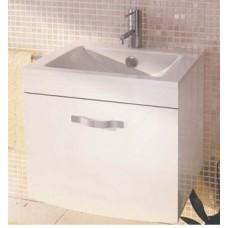 Тумба-умывальник Лаура-60-1 подвесная белый Comforty