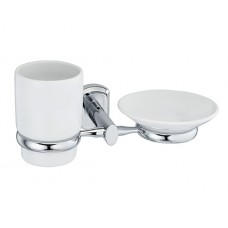 Oder Держатель стакана и мыльницы керамика Wasserkraft К3026С