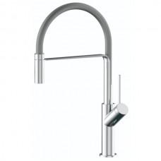 Смеситель для кухни SMART SM134042AA хром/серый с гибким изливом